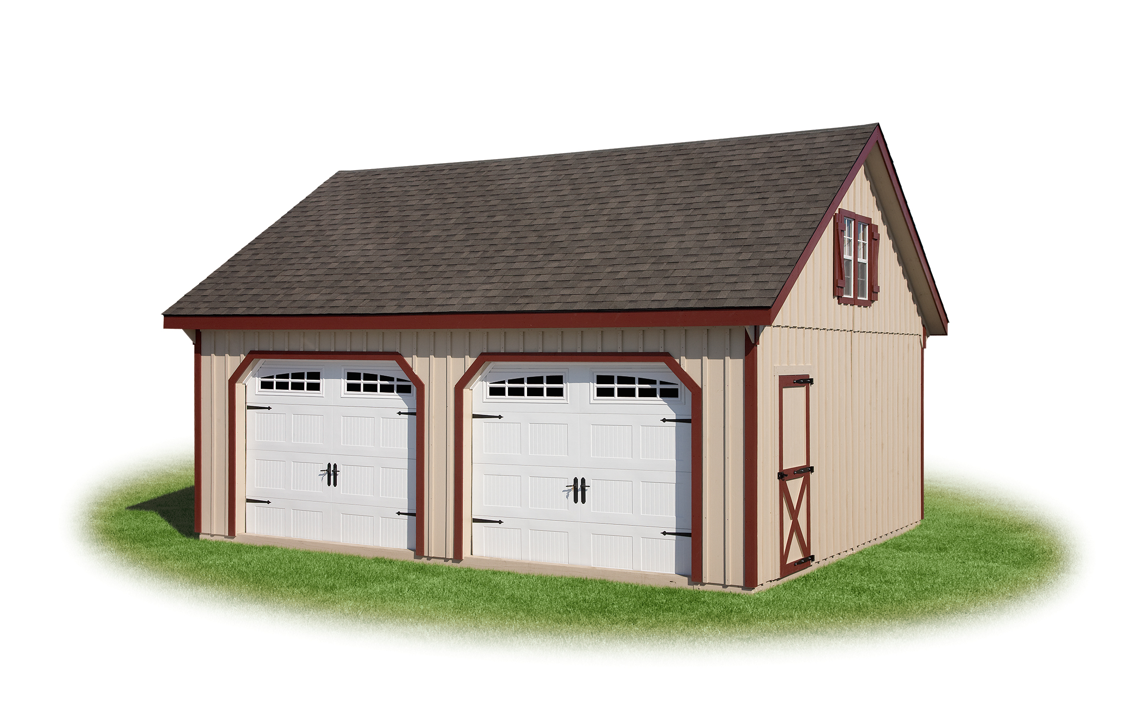 Modular garage full loft 2 for Prefabricated garage with loft