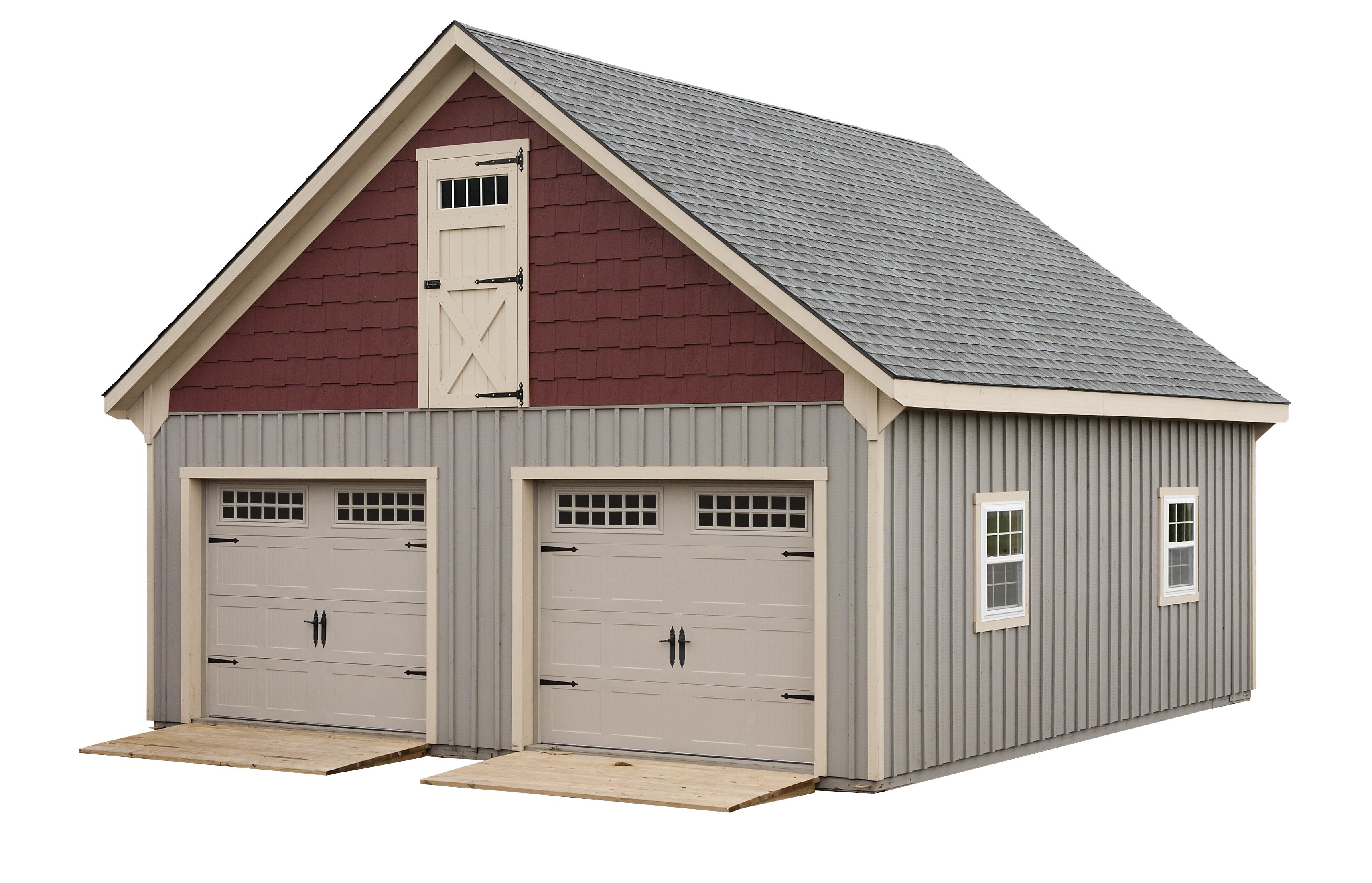 Modular garage full loft for Prefab 2 car garage with loft