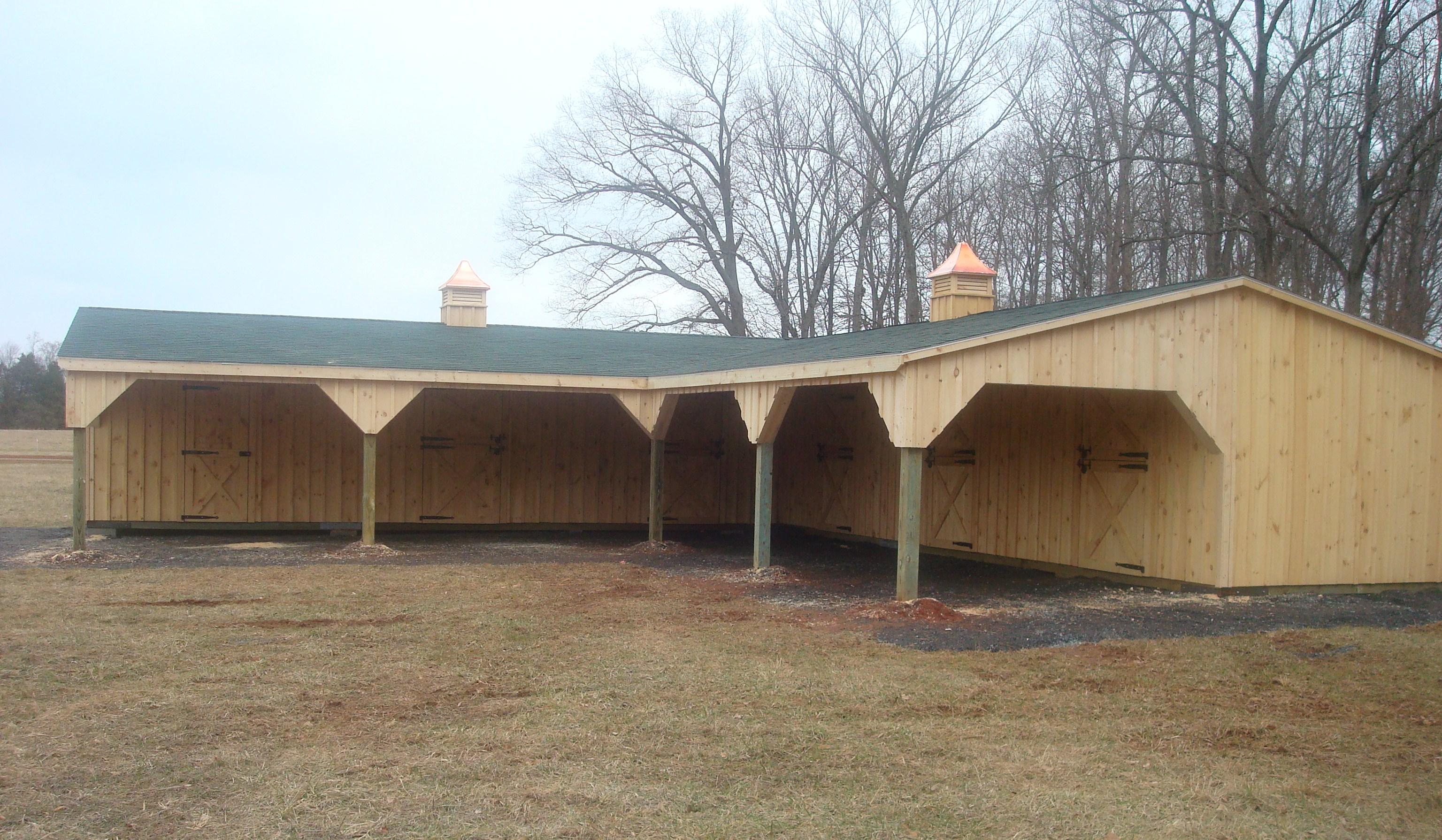 Shed row barn kits shed row horse barn plans shedbra for Barn shaped garage