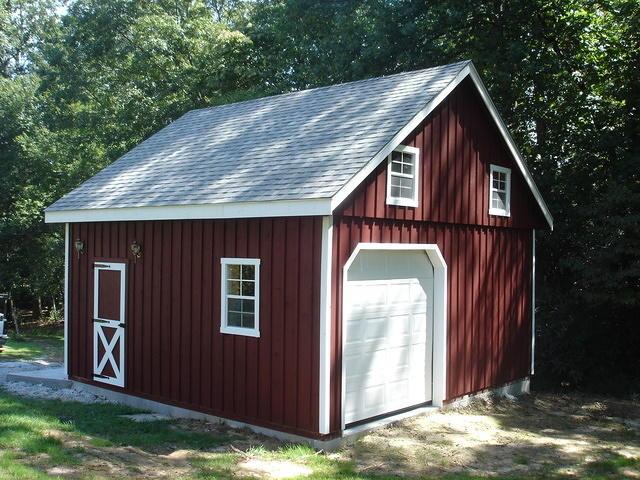 Modular garage full loft2 for Prefab 2 car garage with loft