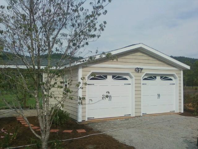 Modular garage no loft 2 for Prefabricated garage with loft