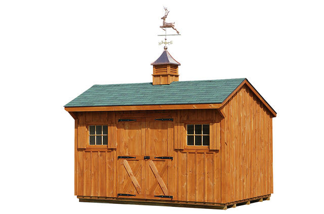 Storage Shed Manor With Cupola And Weathervane